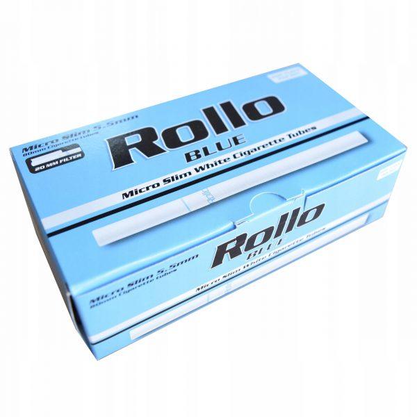 Gilzy tutki Rollo Micro Slim Blue karton 20x200 szt