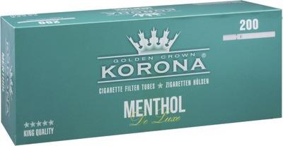 Gilzy Korona De Luxe Menthol 20x200 szt.