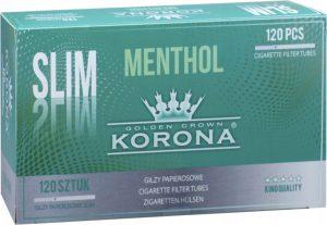 Gilzy Korona Slim Menthol 20x120 szt.