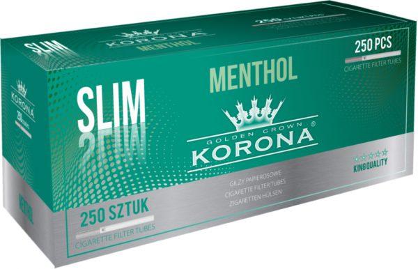 Gilzy Korona Slim Menthol 20x250 szt.